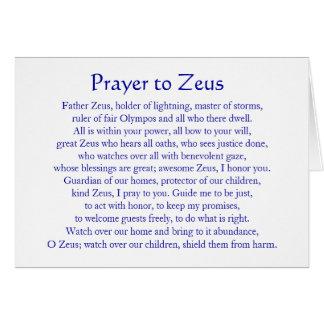 Rezo a Zeus Tarjeta