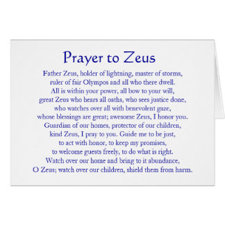 Rezo a Zeus Tarjeta Pequeña