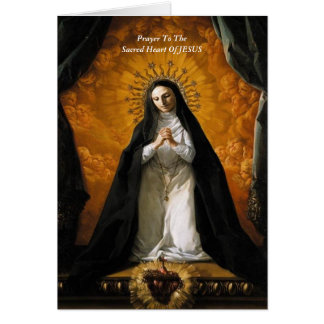 Rezo al corazón sagrado de JESÚS Tarjetas