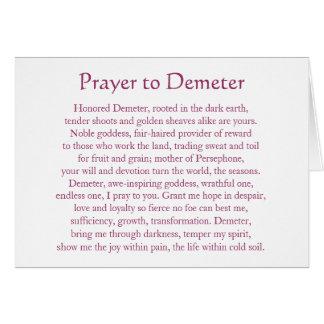 Rezo al Demeter Tarjeta Pequeña