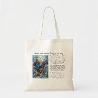 Rezo bendecido de la trinidad para el bolso de la  bolsa de mano