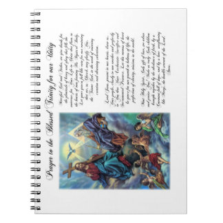 Rezo bendecido de la trinidad para el cuaderno de