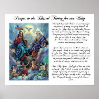 Rezo bendecido de la trinidad para el poster de la