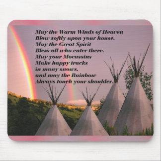 Rezo cherokee Mousepad de la bendición Alfombrillas De Ratones