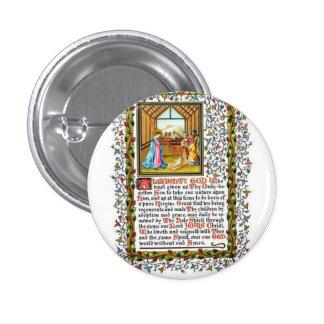 Rezo cristiano con natividad pin redondo de 1 pulgada