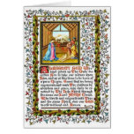 Rezo cristiano con natividad tarjeta