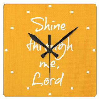 Rezo cristiano inspirado de la afirmación de la reloj cuadrado