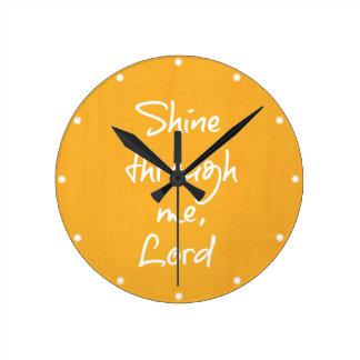 Rezo cristiano inspirado de la afirmación de la reloj redondo mediano