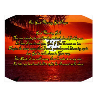 Rezo de dios de la buena mañana postales