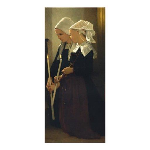 Rezo de Guillermo Bouguereau- en Sainte Anne d'Aur Diseños De Tarjetas Publicitarias