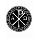 Rezo de Jesús con el Ji-ro blanco y negro en círcu Postal