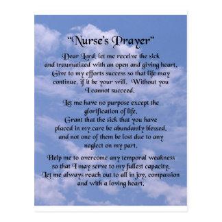 rezo de la enfermera tarjetas postales