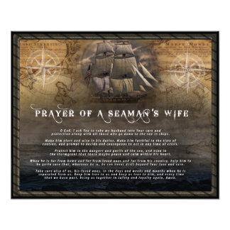 Rezo de la esposa de un marinero fotografía
