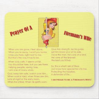 """Rezo de la esposa"" Mousepad de un bombero"