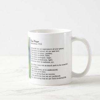 Rezo de la paz taza de café