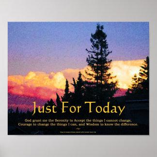 Rezo de la serenidad apenas para el poster del hoy