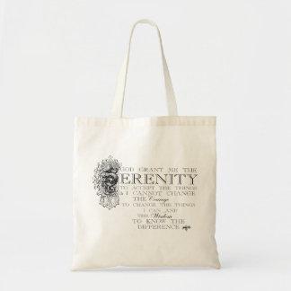 Rezo de la serenidad bolsa lienzo