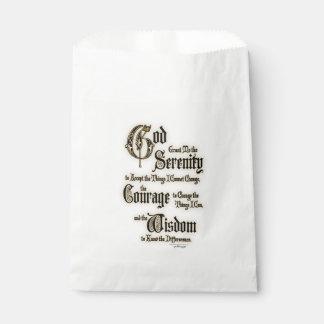 Rezo de la serenidad: Caligrafía, antigüedad, Bolsa De Papel