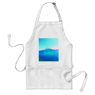 Rezo de la serenidad con el océano azul y el cielo delantales