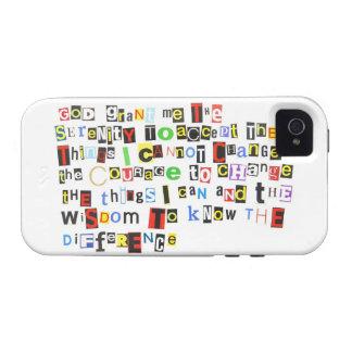 Rezo de la serenidad de la nota de rescate Case-Mate iPhone 4 funda