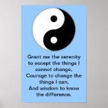 Rezo de la serenidad de Yin Yang Impresiones