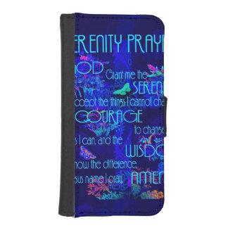 Rezo de la serenidad en azul fundas tipo billetera para iPhone 5
