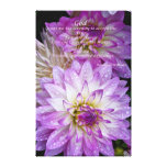 Rezo de la serenidad en dalia púrpura hermosa impresión de lienzo