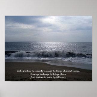 Rezo de la serenidad en la foto hermosa de la play póster