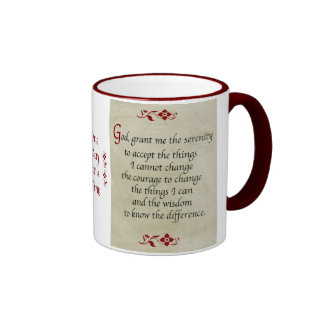 Rezo de la serenidad/estilo del vintage taza de café