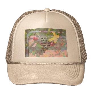 Rezo de la serenidad floral gorras