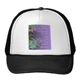 Rezo de la serenidad floral gorras de camionero