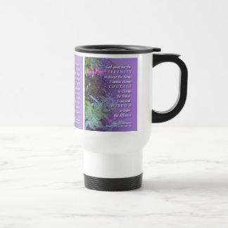 Rezo de la serenidad floral tazas