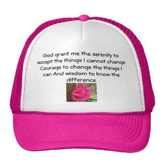 Rezo de la serenidad gorras