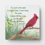 Rezo de la serenidad - placa cardinal roja brillan