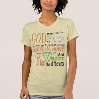 Rezo de la serenidad camiseta
