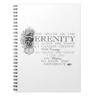 Rezo de la serenidad spiral notebook