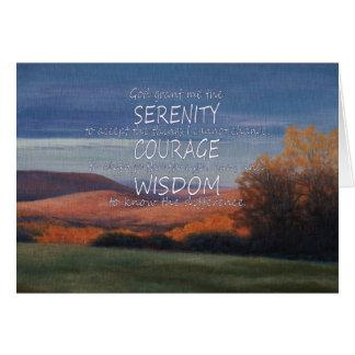 Rezo de la serenidad tarjeta de felicitación