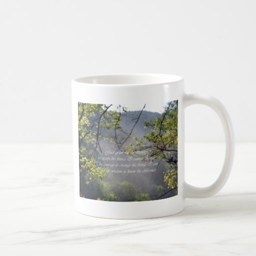 Rezo de la serenidad tazas de café