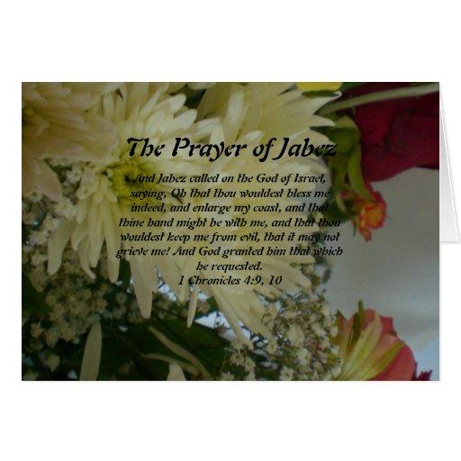Rezo de la tarjeta de felicitación de Jabez