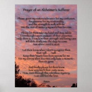 Rezo de la víctima de un Alzheimer Póster