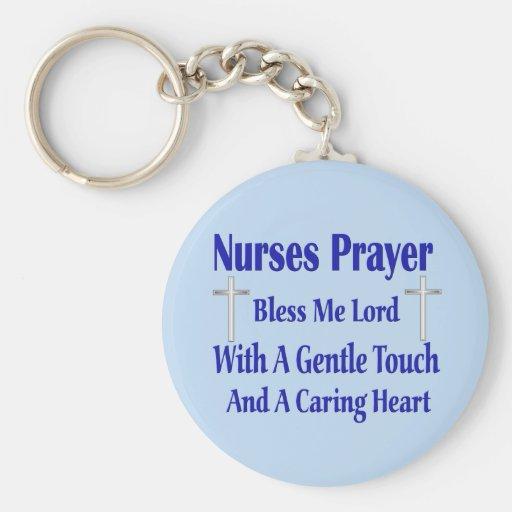 Rezo de las enfermeras llavero personalizado