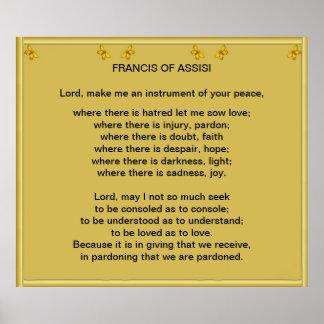 Rezo de los Franciscos de Asís Póster