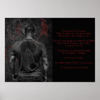 Rezo de los guerreros póster