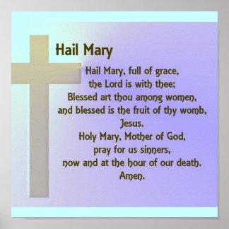 Rezo de Maria del Poster-Saludo Póster