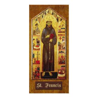 """Rezo de St Francis de Assisi Folleto Publicitario 4"""" X 9"""""""