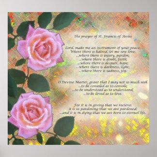 Rezo de St Francis de Assisi Poster