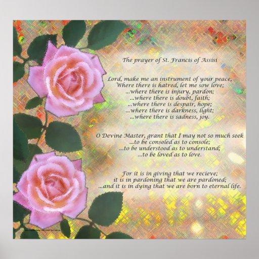 Rezo de St Francis de Assisi Póster