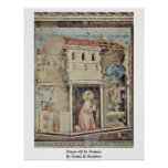 Rezo de St Francis de Giotto Di Bondone Posters