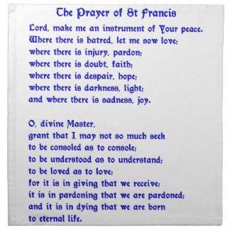 Rezo de St Francis Servilletas De Papel