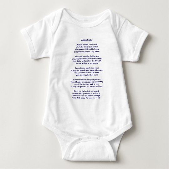 Rezo del autismo body para bebé